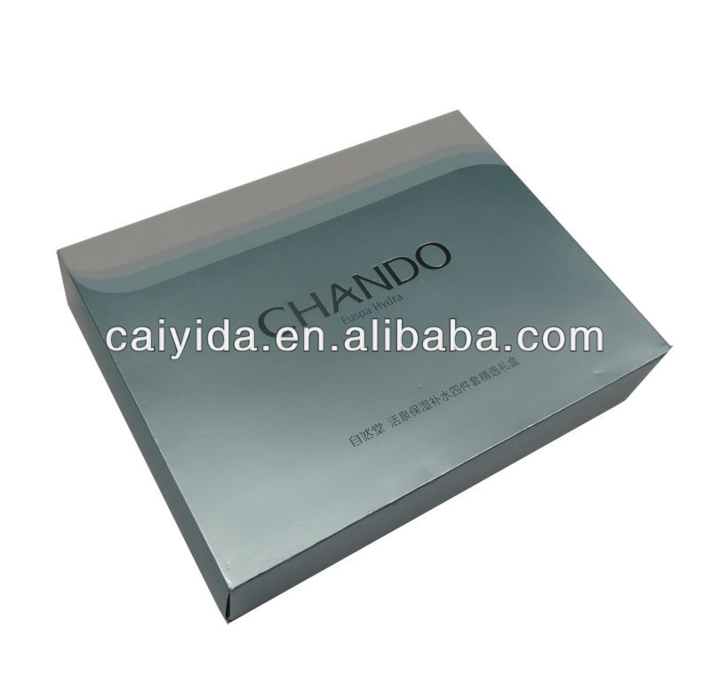 Cosmetic paper box for skin care product packaging