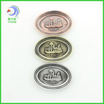 madrid design magnet zinc alloy magnet fridge magnet