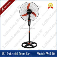 18 inch industrial stand fan model FS45-10 with orange banana blade
