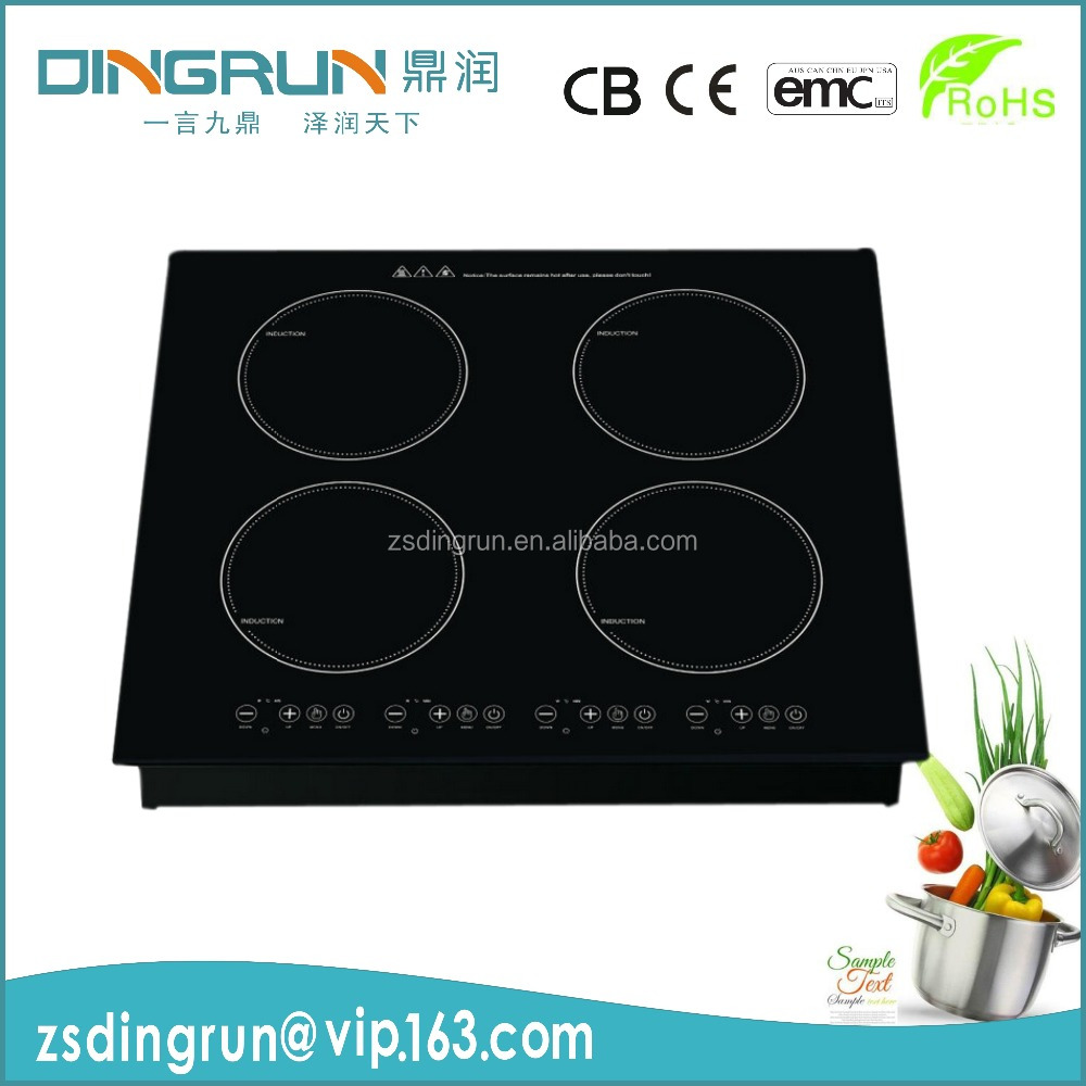 OEM/ODM 4 zone glass ceramic hob /electric cooktop DR-24 / 6200W