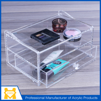 OEM factory point of sale display stand/ lighting makeup case with stand