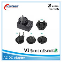 International 5w 12w 5 volt 1amp 5v 1a 2a universal multi plug adapter wall usb power adapter