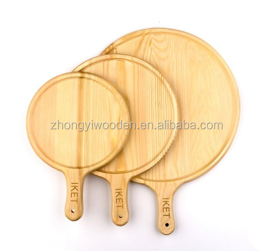 hot selling FSC&SA8000 handmade wooden pizza cheese plate tray holder