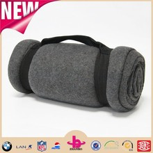 Charcoal material two side brushed polar fleece blanket supply from Shaoxing supplier in china