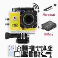 SJ4000 Sports DV Wifi 1.5 Inch LCD Full HD 1080P Camcorder Extreme Outdoor Waterproof Action Camera mini camaras + monopod drago