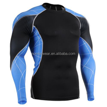 Custom Gym Fitness Men Compression Running Tops Wear Tight, Outdoor Sportswear Wholesale