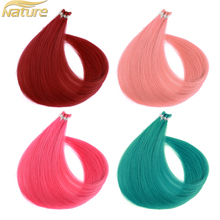 100% Remy Human hair Hair Extension of I Tipped Pink / Red / Strange ombre Hair Pre-bonded Hair