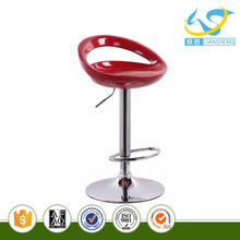Red color ABS swivel modern bar stools for bar stool furniture