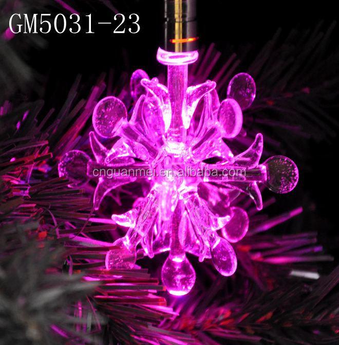 3d hanging snowflake glass decoration pieces with led for 3d hanging snowflake decoration