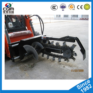 High quality skid steer loader attachment disk trencher with lowest price