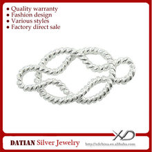 XD X104 925 Sterling Silver Twisted Jewelry Connector from China Lead Manufacturer