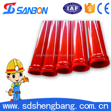CE&ISO approved Dn125*3m 20# steel 16Mn concrete pump pipe / boom pipe / concrete lined pipe