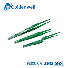 Disposable Green Medical Sterile Plastic Tweezers