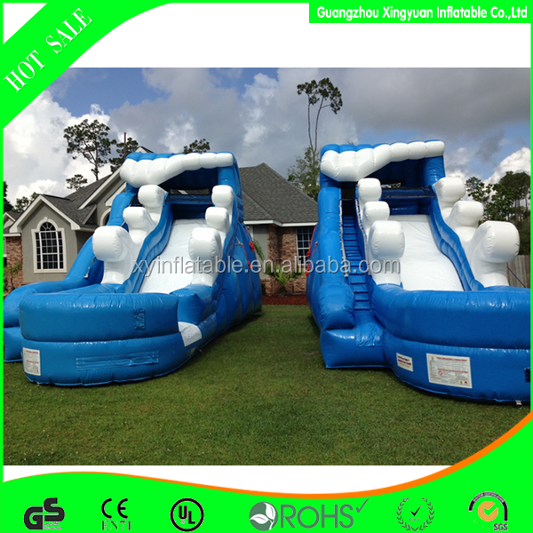 Factory outlet inflatable PVC vinyl spraying Slip And Slide