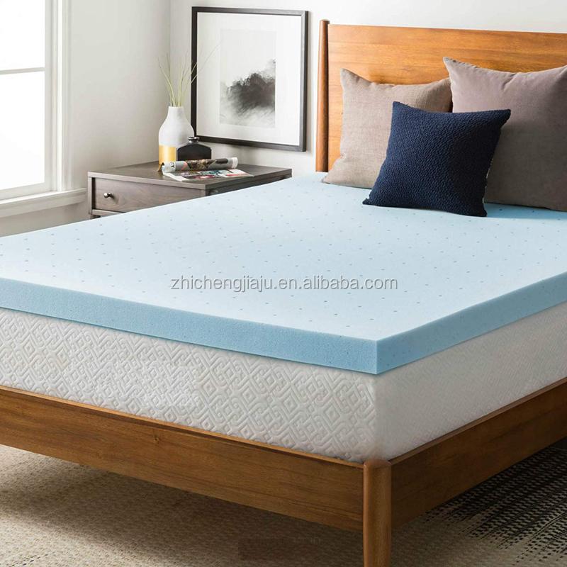 Eco-friendly aloe vera Fabric pocket spring gel cool memory foam mattress topper - Jozy Mattress   Jozy.net