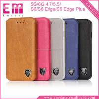 For iPhone 5 Leather Stand Case For Samsung S6 Edge Leather Card Slot Case