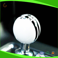 Black Rally Stripe Shift Knob Cue Ball w/ Universal Threading Adapters