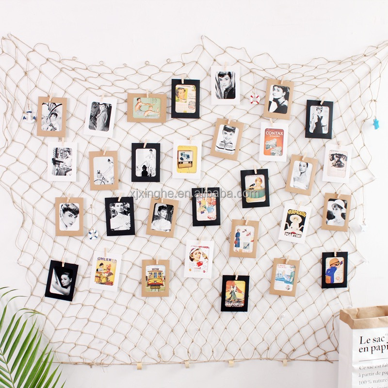 Photo Hanging display for Decorative Fish Net in Mediterranean Style