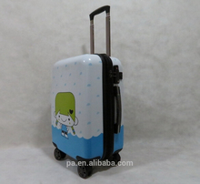 2017 luggage with USB charger and scale handle smart luggage China factory price