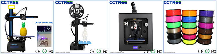 2017 Newest 0.1mm high precision large 3d printer machine, Creality CR-10 S5 S4 S3 3D Printer
