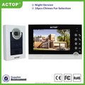 China Manufacturer ACTOP night vision rainproof 110-250V villa 7inch video door phone