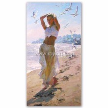 Wall Art Decoration Most popular Beautiful Beach Girl Nude Canvas Oil Painting