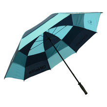 60 inches fiberglass material windproof double layers canopy golf umbrella