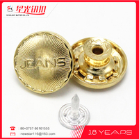 Nickel free gold metal buttons decorate dress, bracelets, bags