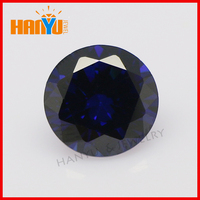 Wholesale lab-created round cubic zirconia synthetic tanzanite gems