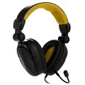 Big wired foldable PC gaming stereo headset for PS4 Xbox one good sound gamer headphone with detachable mic