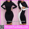 Wholesale White and Black Fitted Bodycon Dress
