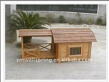 wood dog cage with balcony SD-022