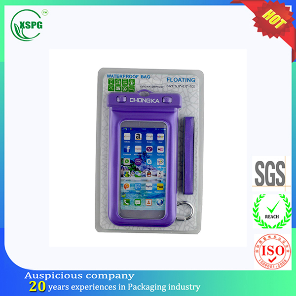 Hot product IPX8 Certified universal custom PVC cell phone Waterproof case