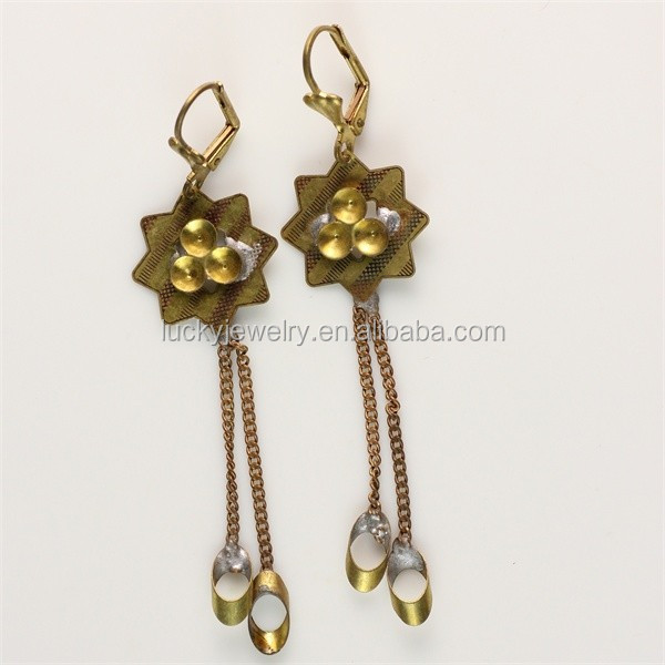 Fashional New Girls Costume Jewelry Chandelier Gold Earring Designs