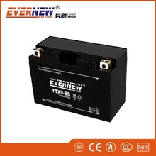Black 12V9Ah YTX9A-BS Gel Type Lead Acid Motorcycle Battery