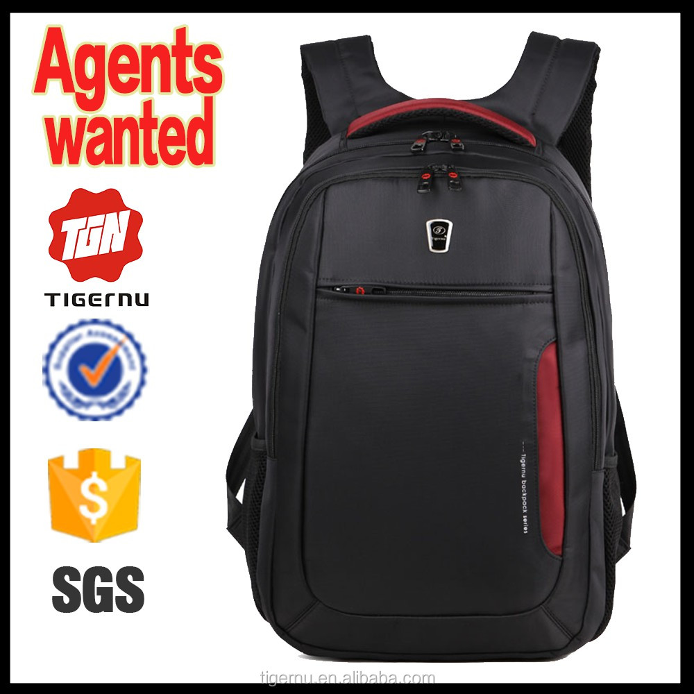 Heavy duty tough high-quality anti steal shakeproof waterproof pro sports travel multi purpose black backpack bag 15.6 laptop