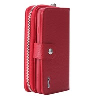 Multifunctional case for iphone 6 6s plus pu leather cover with detachable back case