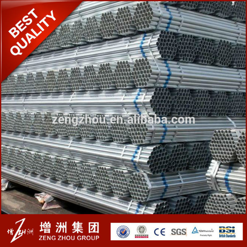 cheap price cold rolled galvanized pipe size chart/gi pipe for greenhouse with low price