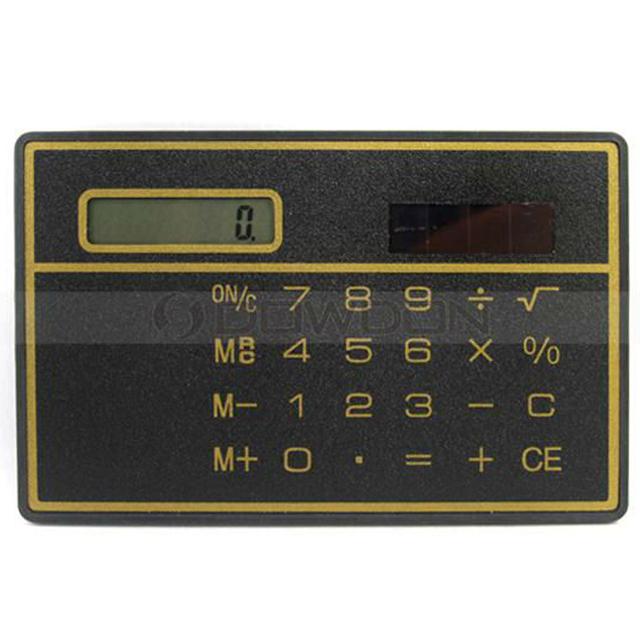 Super Slim Pouch Bag Mini Gift 8 Digits Solar Panel Calculator