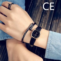 Free Shipping China Ladies Vintage Leather Small Dial Round Bangle Watch For Small Wrist wh30052