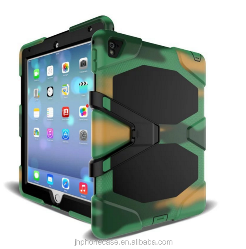 Tough grade rainproof scratchproof tab armor field traveling using gel case for iPad Pro with stand