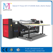 3D Printer China Hybird Roll to Roll Flatbed UV LED Printing Machine