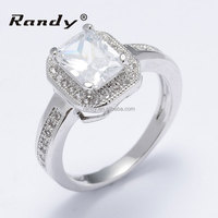 Hot Saling 18K White Gold Diamond Rings Jewelry For Wedding