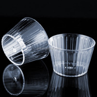 cheap disposable plastic sweet cups for FDA tableware