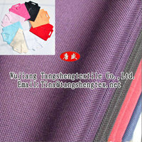 Recycled polyester cotton blended knitting pearl mesh fabric