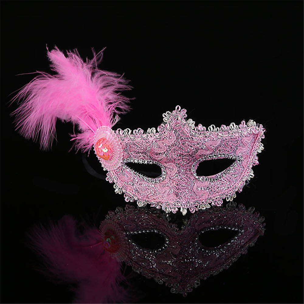 2016 Hot Selling High Quality Lace Feather Masquerade Venetian lady Masks
