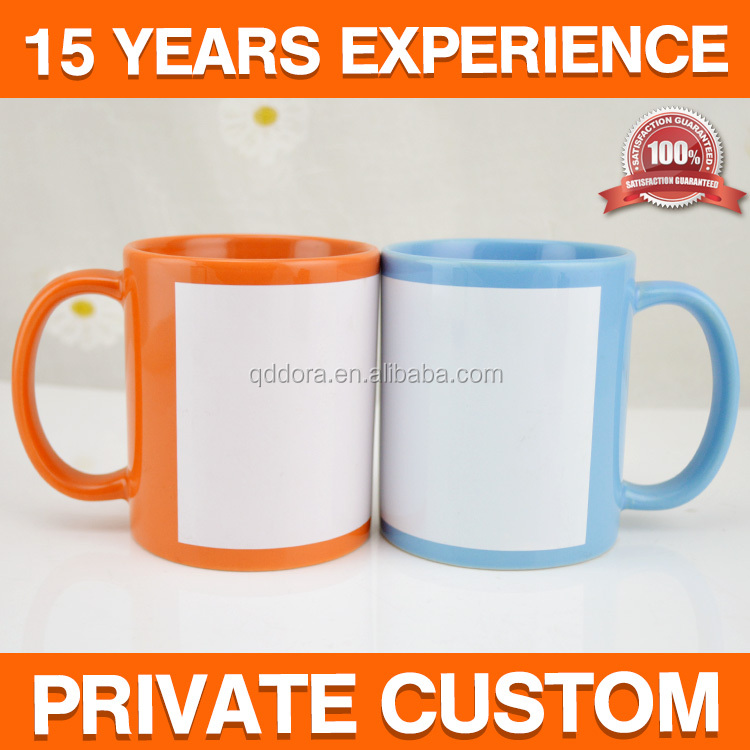 2017 hot sale Various sizes glazed sublimation ceramic tea mug cup custom logo printing