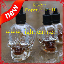 glass dropper clear bottle childproof cap 2oz skull glass red wine bottle,4oz food grade sterile skull glass eliquid bottle
