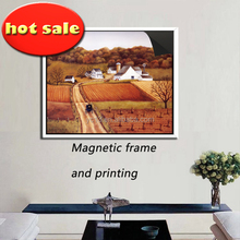print magnetic canvas paintings picture my village 1013-119 with magnetic frame