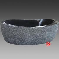 Solid marble small bathtub for children